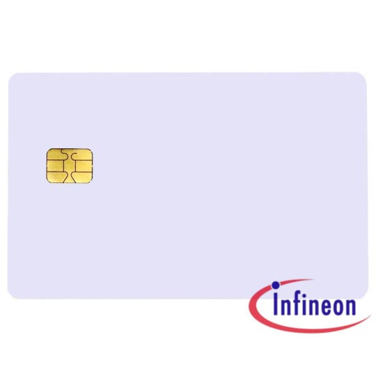 PLAIN WHITE INFINEON CONTACT CHIP CARDS