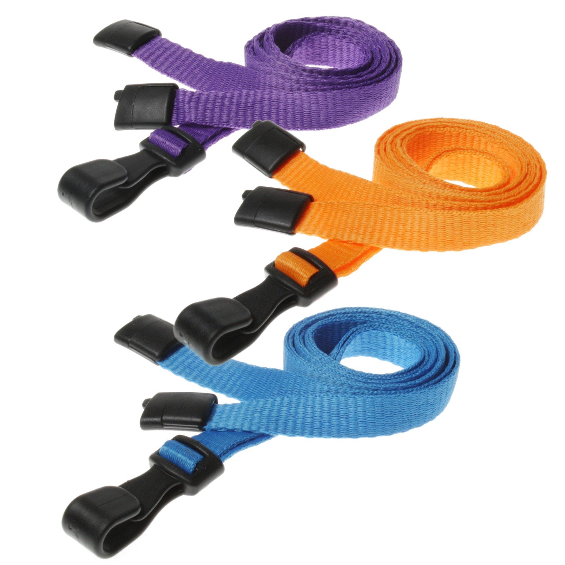 Plain Lanyards - Plastic Hook