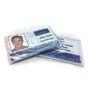 ULTRA CLEAR ENCLOSED BADGE HOLDER